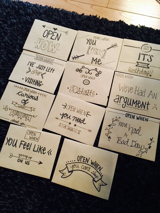 Open Letters To Him