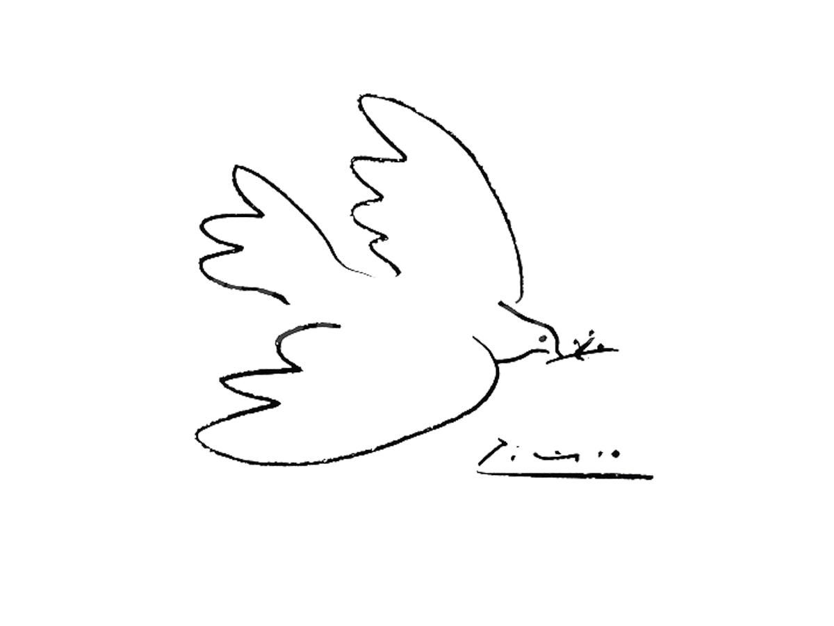 It's just a picture of Refreshing Picasso Bird Drawing