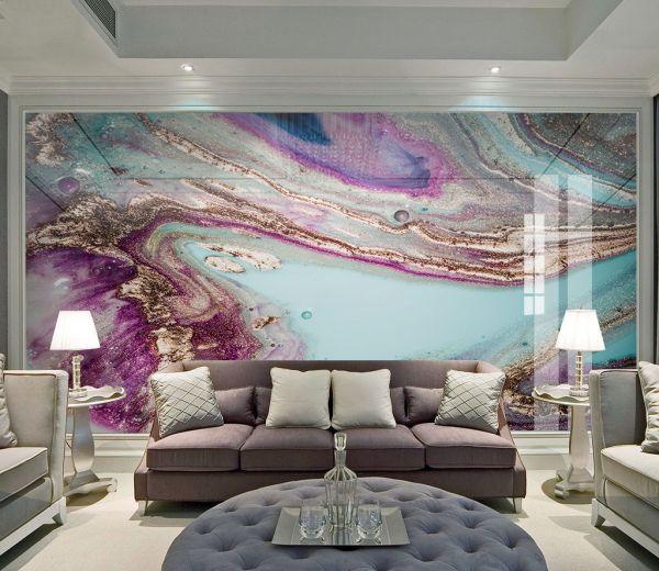 Fototapeta Fioletowe Akcenty 25334 Uwalls Pl Wall Wallpaper Mural Wallpaper Wallpaper