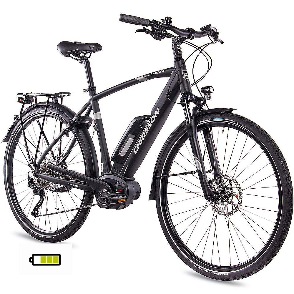 Chrisson 28 Zoll Herren Trekking Und City E Bike E Actourus Schwarz Matt Elektro Fahrrad Herren In 2020 Fahrradreifen E Bike Pedelec