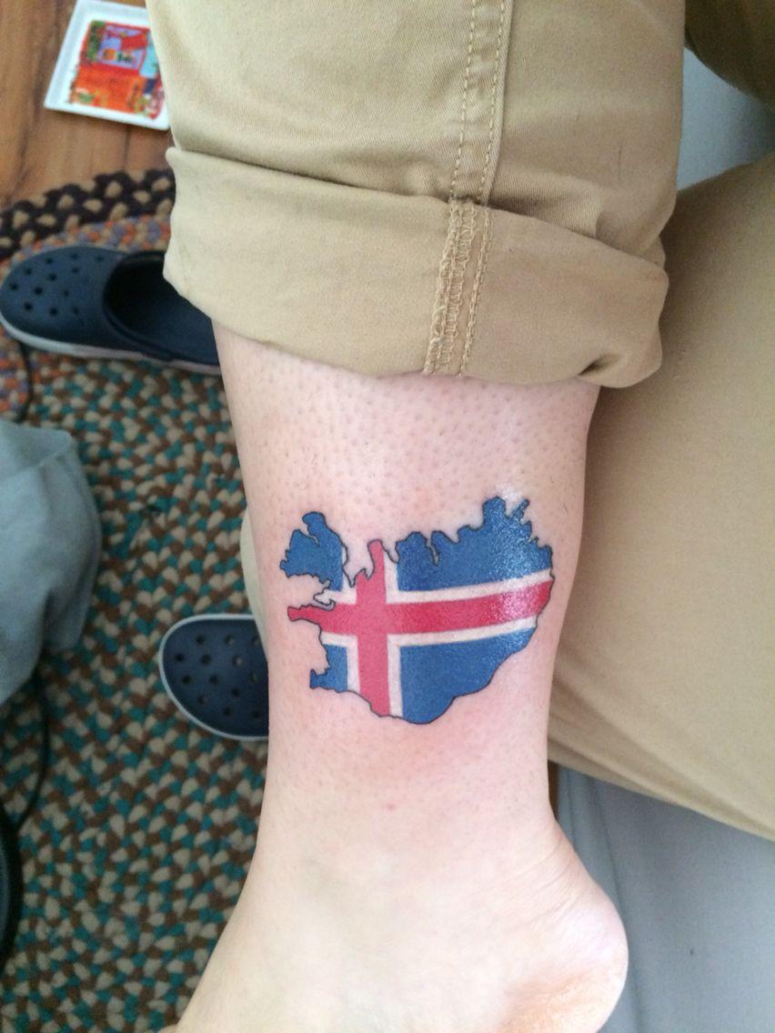 Iceland map tattoo with flag future tattoo pinterest