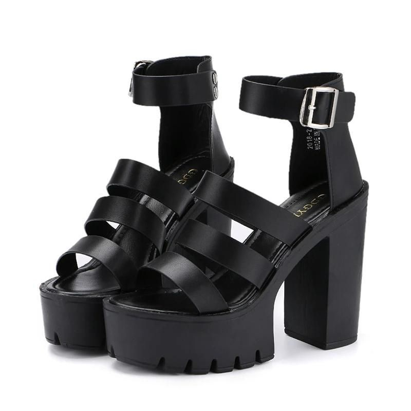 Edgy Wedge Platform Shoes in 2020