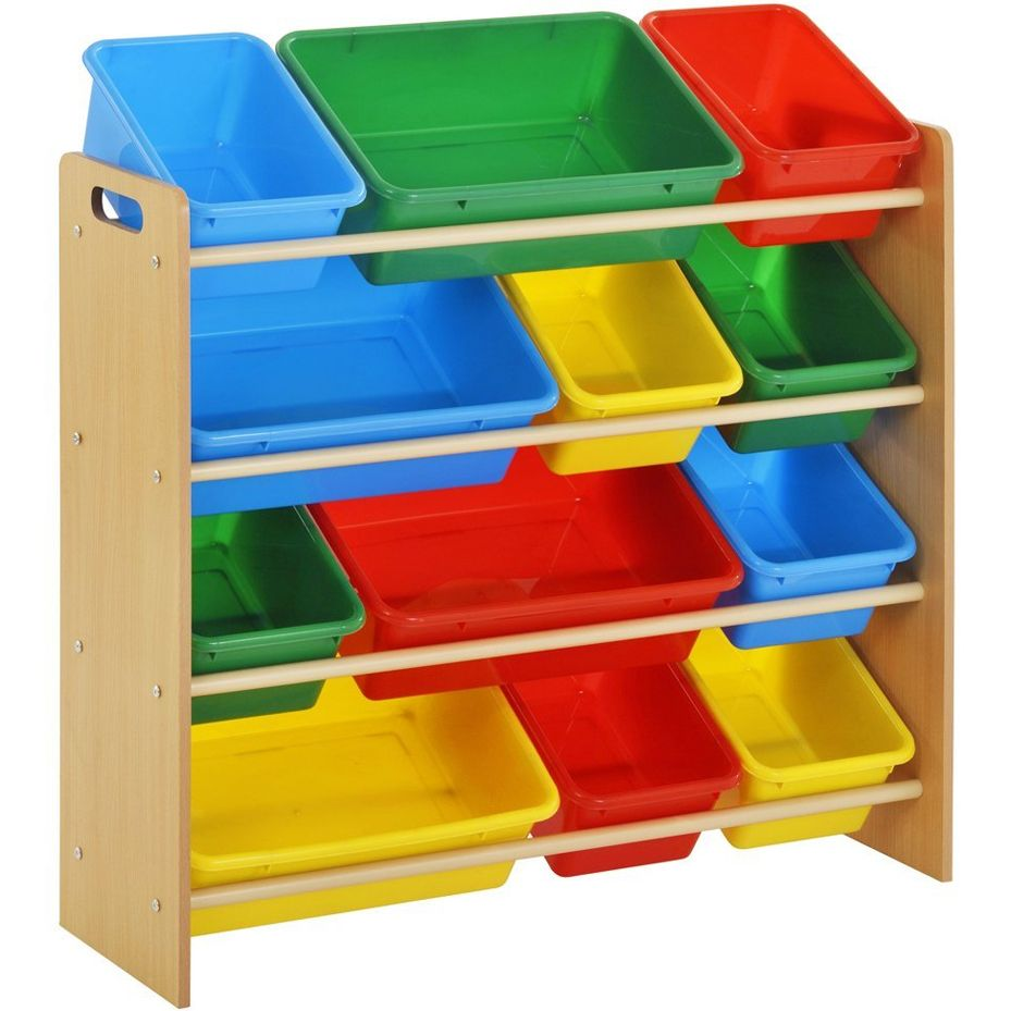 Multi Bin Toy Organizer Reduce Clutter With These Handy Colorful Bins That Make Toys
