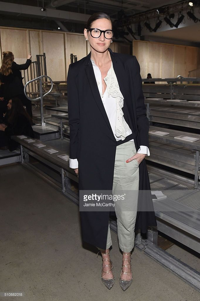 40f16b8c529e Jenna lyons at DKNY Women s Fall 2016 show on February 17