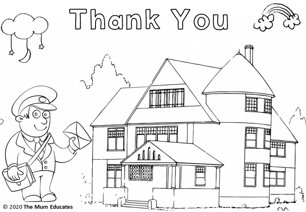 Thank You Postman Colouring Sheet Coloring Sheets Free Coloring Sheets Pokemon Coloring Sheets