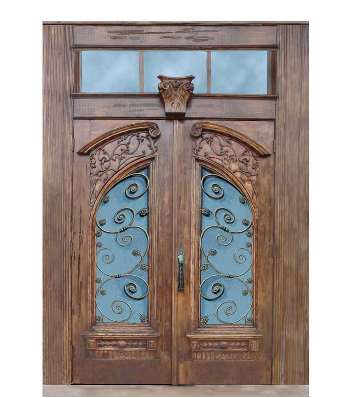 Chateau de Clermont hand carved door Click to make LARGER! Doors Hand Carved - Chateau