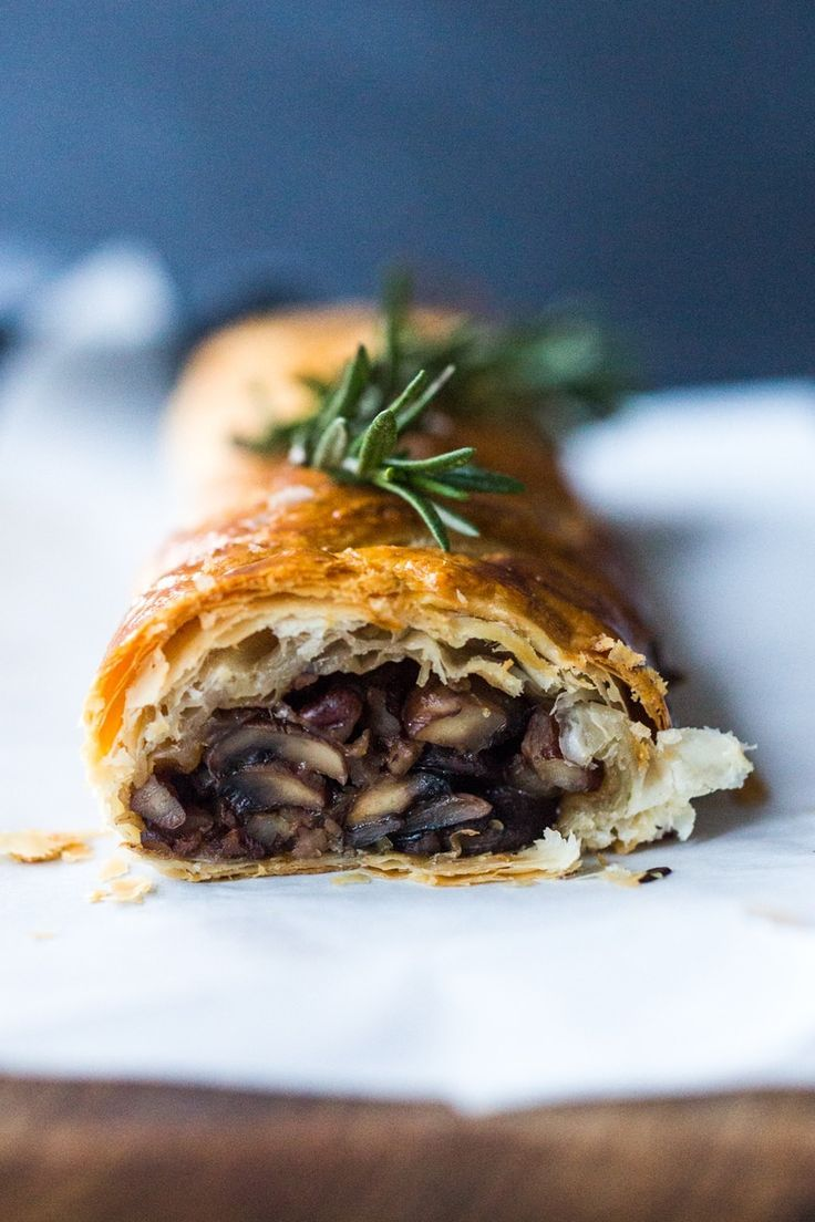 Vegan Mushroom Wellington with Rosemary and Pecans images