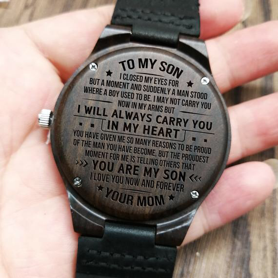 ★ Description: ★ Engraved wooden watch for men and women, anniversary gift for boyfriend and my man, my son, my wife , my husband, my love, or a gift for groomsmen, etc. This personalized wood watch would even make an amazing birthday gift for him. The ultimate gift for any man in your life who