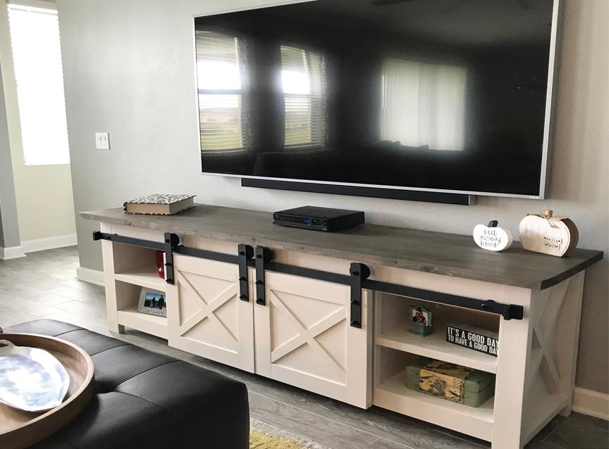 Dale Custom Tv Stand With Barn Doors Wooden Tv Stands Custom