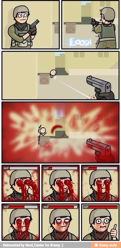 First person shooter logic