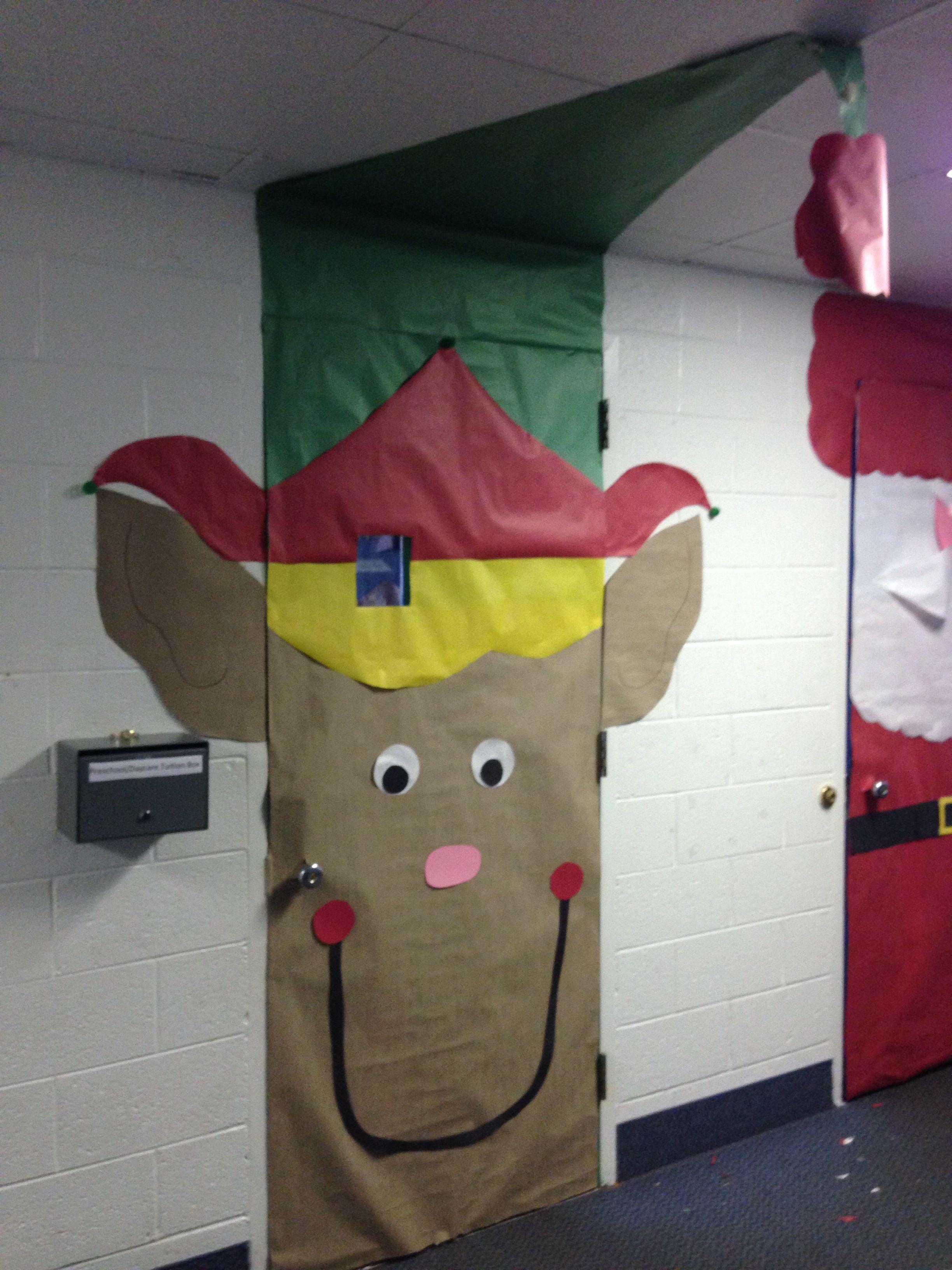 Christmas elf door decorations | Door decoration ...