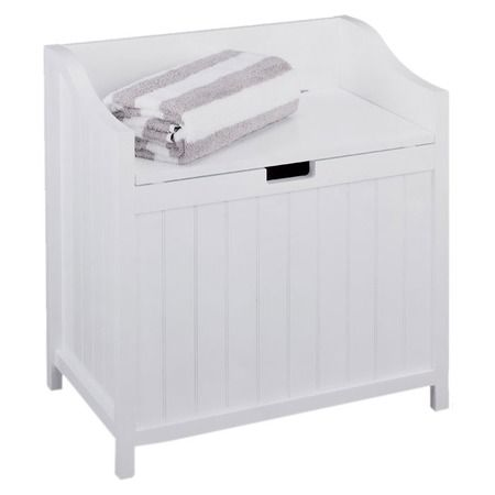 Essentials Cabinet Laundry Hamper Bathroom Bench Laundry Hamper