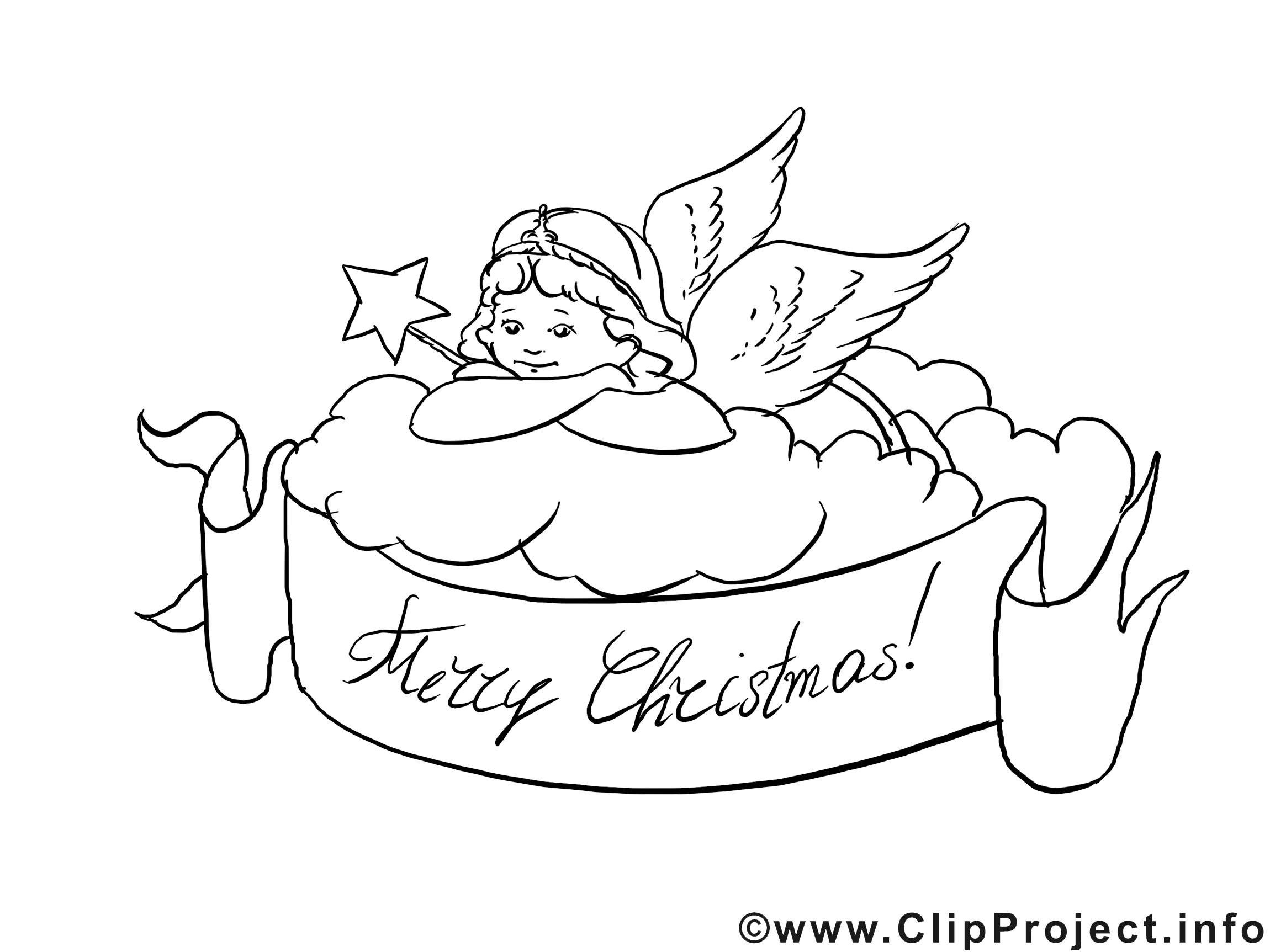 Merry Christmas Coloring Page  Weihnachtsmalvorlagen