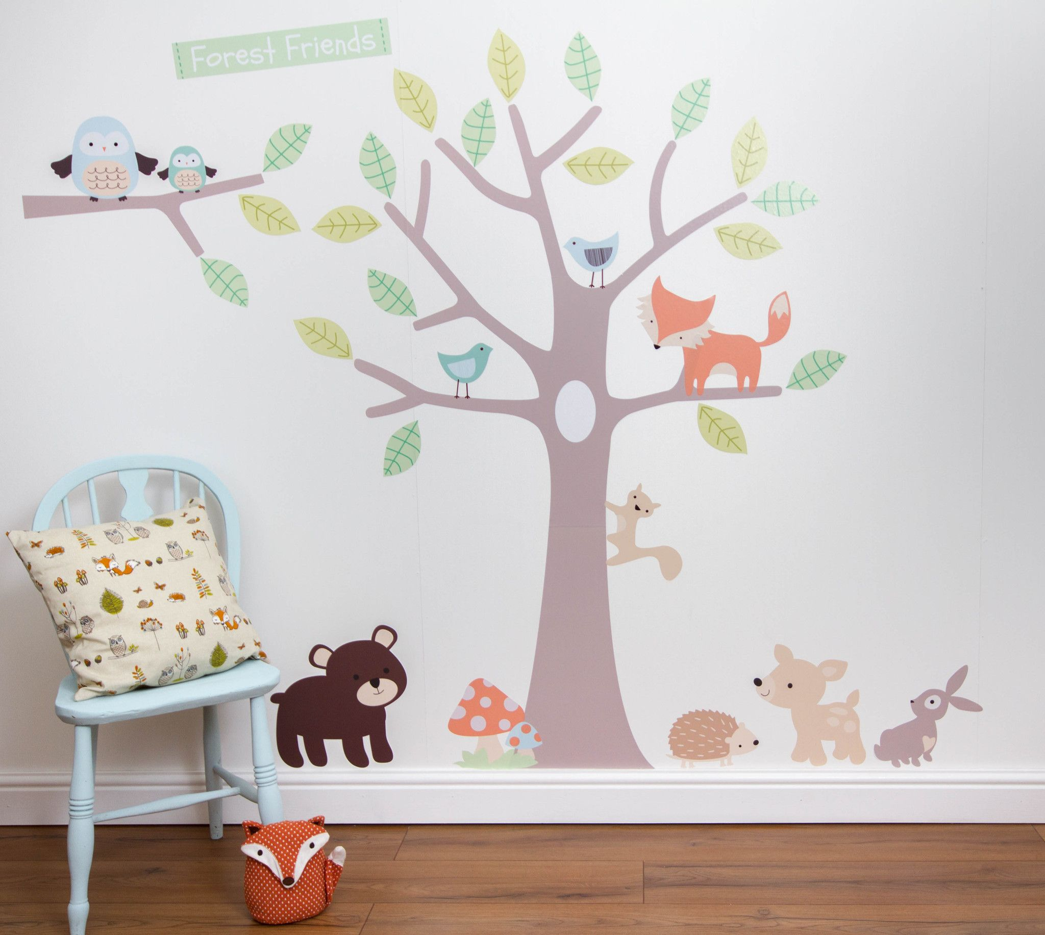 Pastel forest friends wall stickers forest friends wall pastel forest friends wall stickers amipublicfo Images
