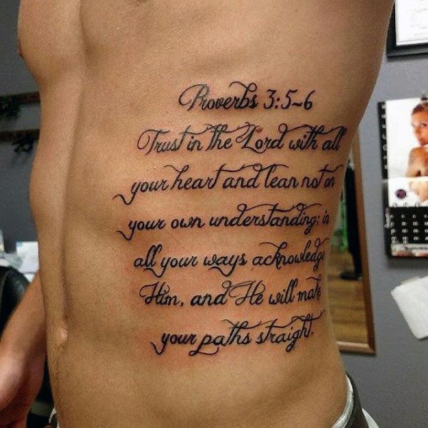 50 Bible Verse Tattoos For Men - Scripture Design Ideas | Ultra Cool ...