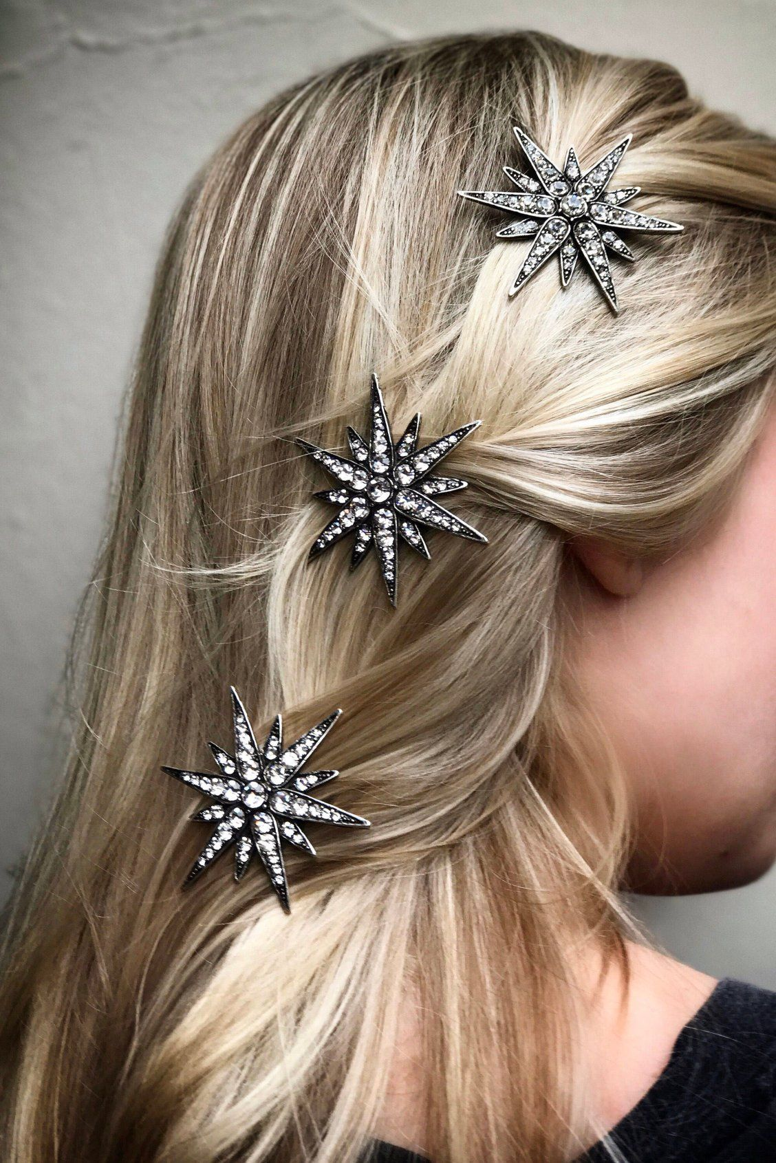Starburst Hair Clip Barrette Star Crystal Rhinestone  Linx  in 2019 ... 2a01e315c7cd