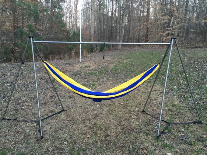the ultimate portable hammock stand   hammock anywhere by bryan oates  u2014 kickstarter the ultimate portable hammock stand   hammock anywhere by bryan      rh   pinterest