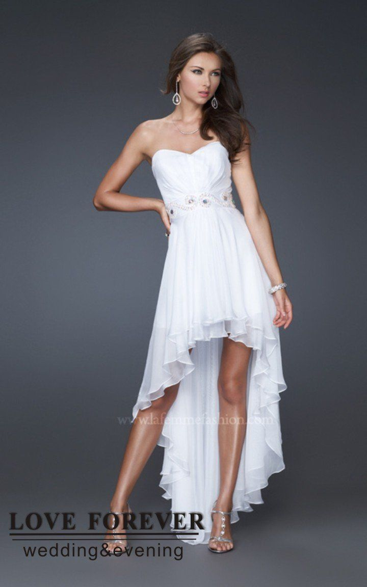 Long White Prom Dresses 2012
