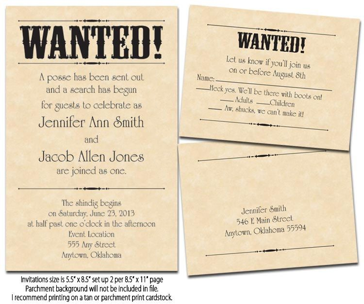 Wanted poster printable wedding invitations reply cards for my free printable rsvp invitations wanted poster printable wedding invitations reply by tarad82 solutioingenieria Choice Image