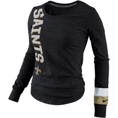 Nike New Orleans Saints Women's White Take it Long Long Sleeve T ...