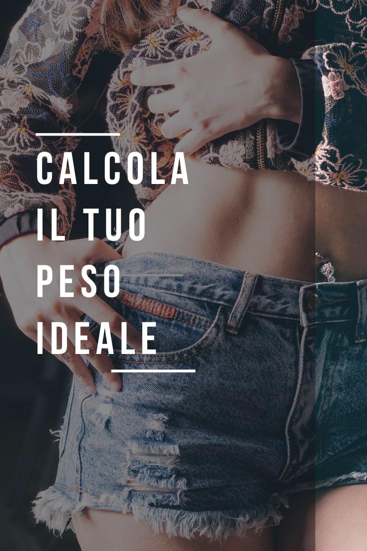 Calcola Il Tuo Peso Ideale Peso Dieta Chetogenica Dieta