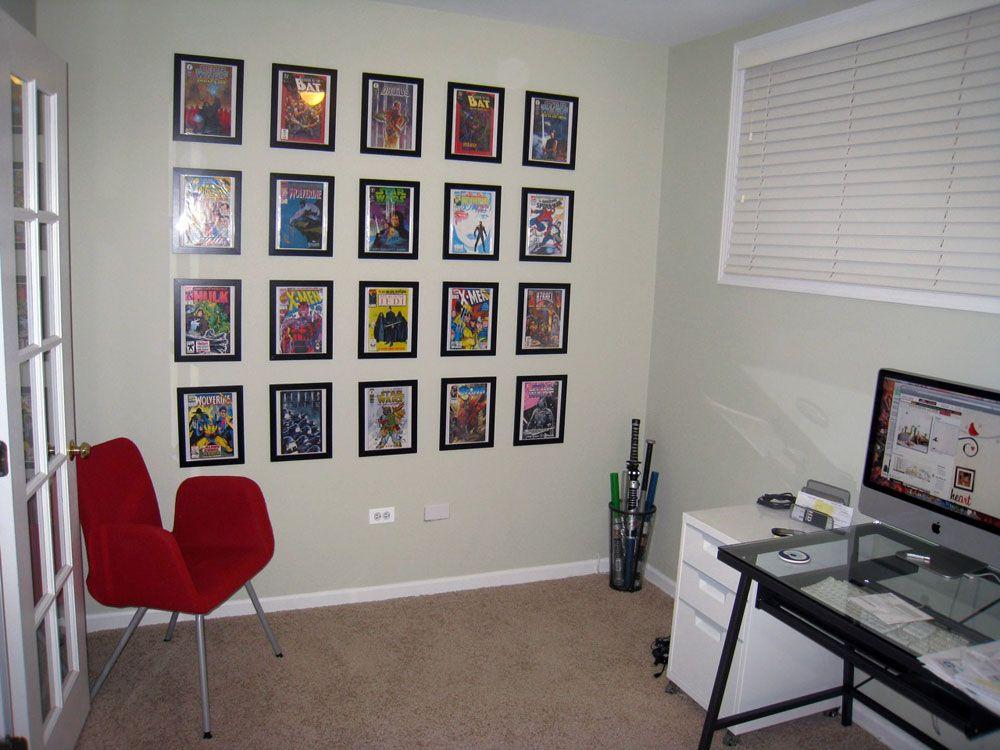 Book wall comic frame wall