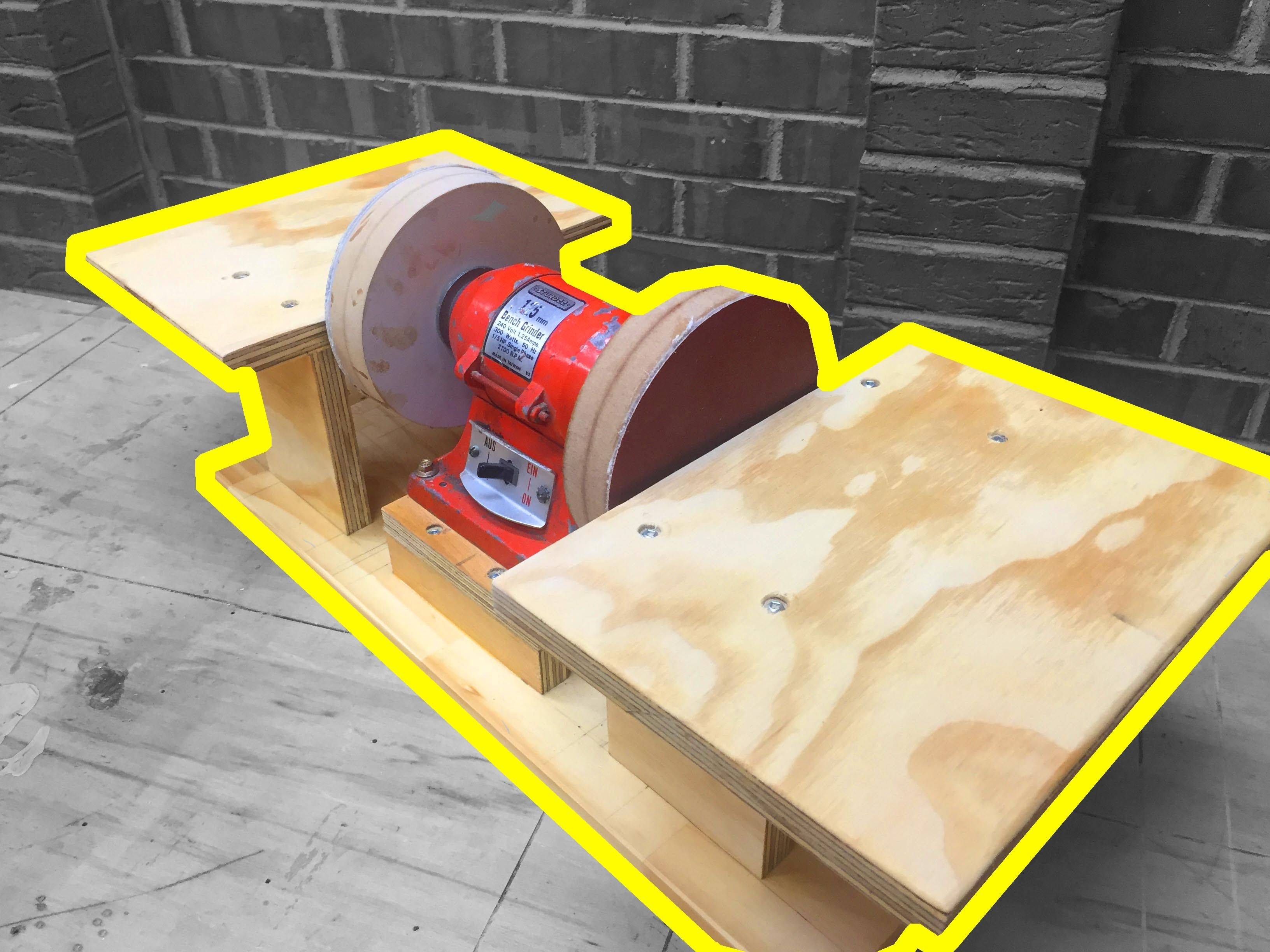 Excellent Today I Make A Double Disc Sander From An Old Bench Grinder Gmtry Best Dining Table And Chair Ideas Images Gmtryco