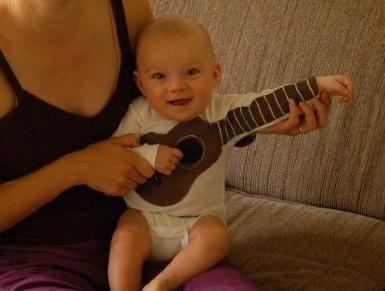 Guitar Baby Onesie - I need this.