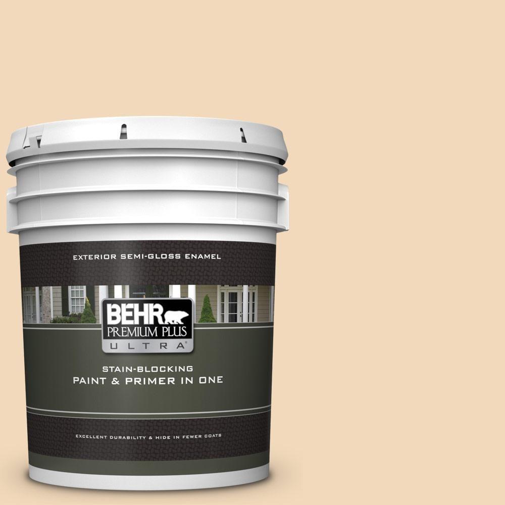 Behr Premium Plus Ultra 5 Gal M250 2 Golden Pastel Semi Gloss Enamel Exterior Paint And Primer In One Interior Paint Exterior Paint Primer