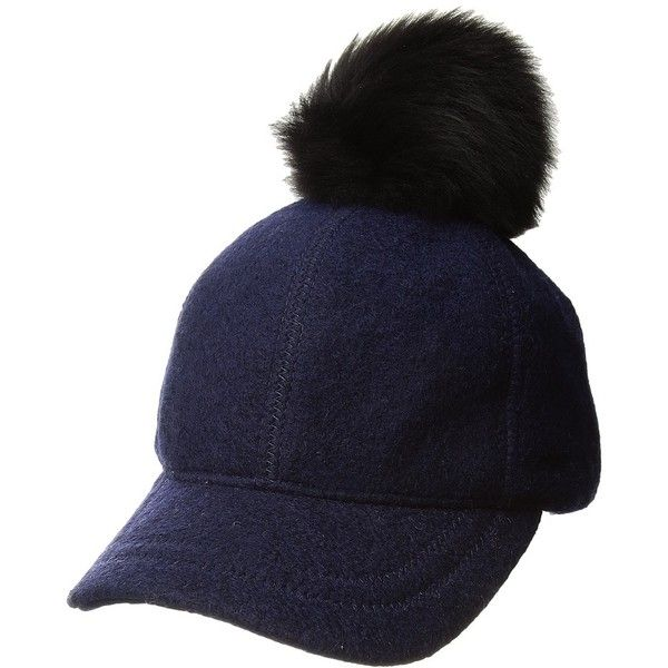 4ce0b0e9738 UGG Fabric Baseball Hat with Fur Pom (New Navy) Baseball Caps ( 76 ...