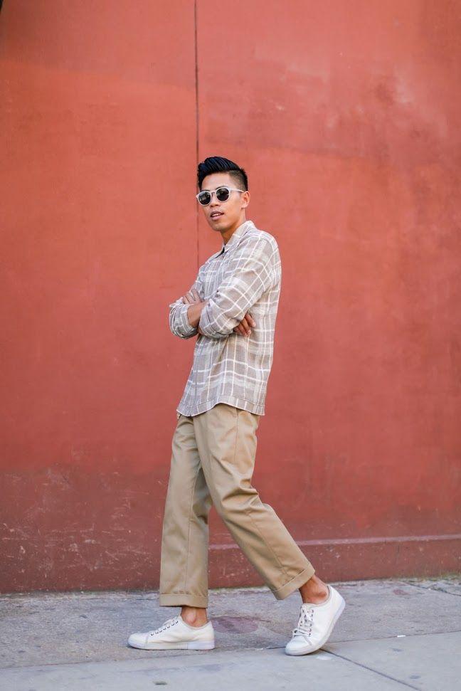 mens wide leg pants trend street style