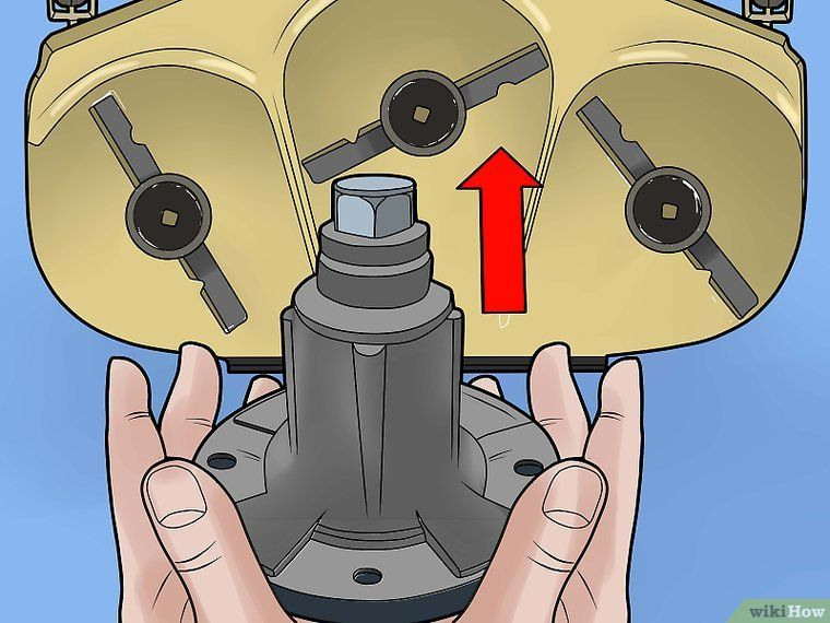 How To Repair A Mower Deck Spindle With Pictures Lawn Mower Repair Lawn Mower Storage Lawn Mower