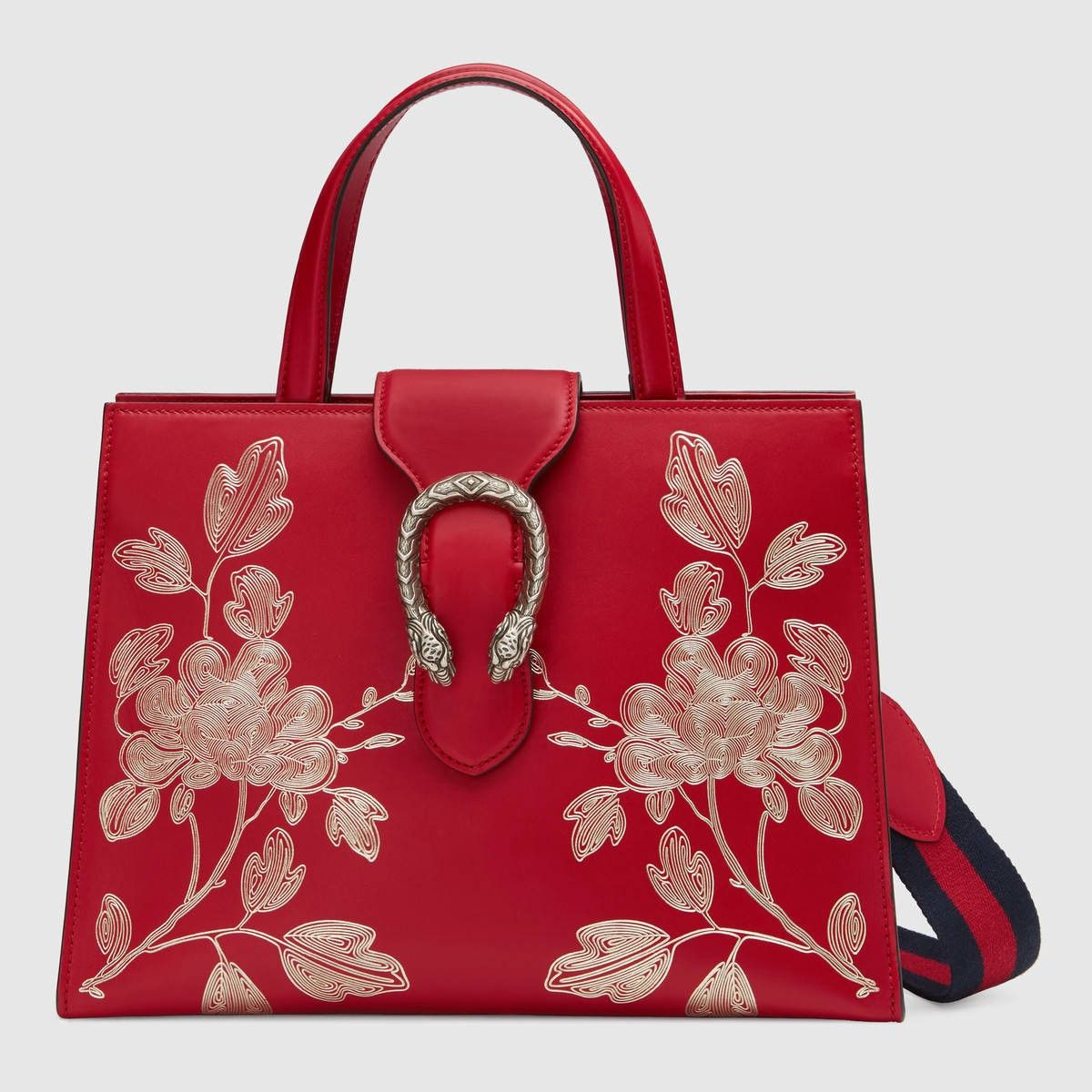 GUCCI Chinese New Year Dionysus Top Handle Bag - Hibiscus Red Leather.   gucci  bags  lining  metallic  shoulder bags  suede  hand bags  nylon   7d1ffd089a6f