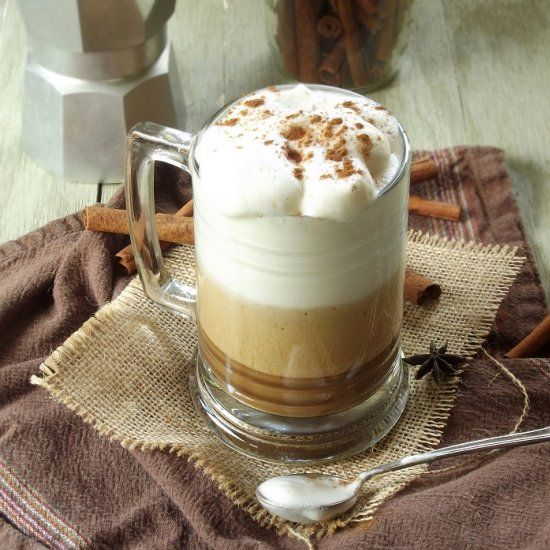 This Creamy Vegan Coffee Masala Latte Is Made With Frothed