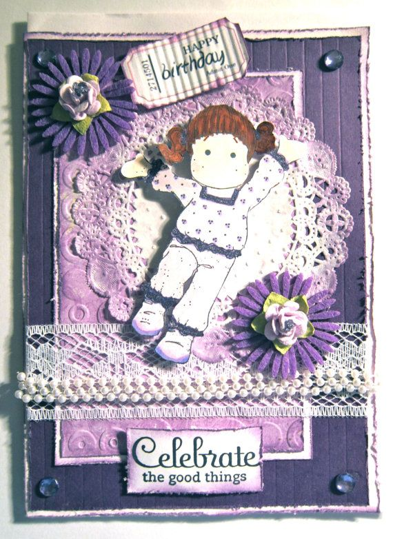 Handmade Birthday Celebration Card with a by Beadlady5CardDesigns, $4.75