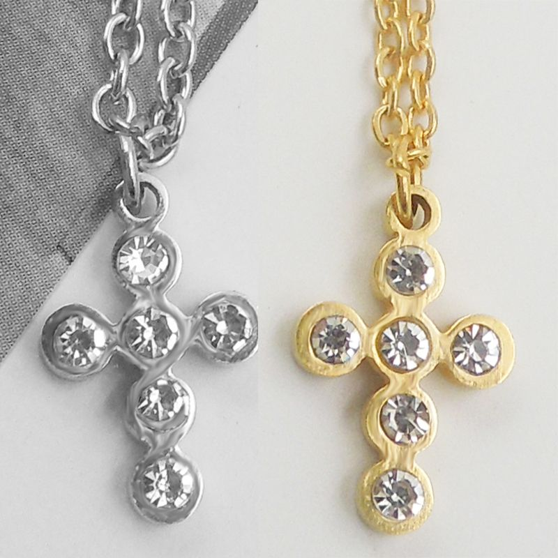 Stainless Steel Choker Cute Cross Star Lucky Chain Necklace Pendant For Women Lovers Bridesmaid Gifts #Affiliate