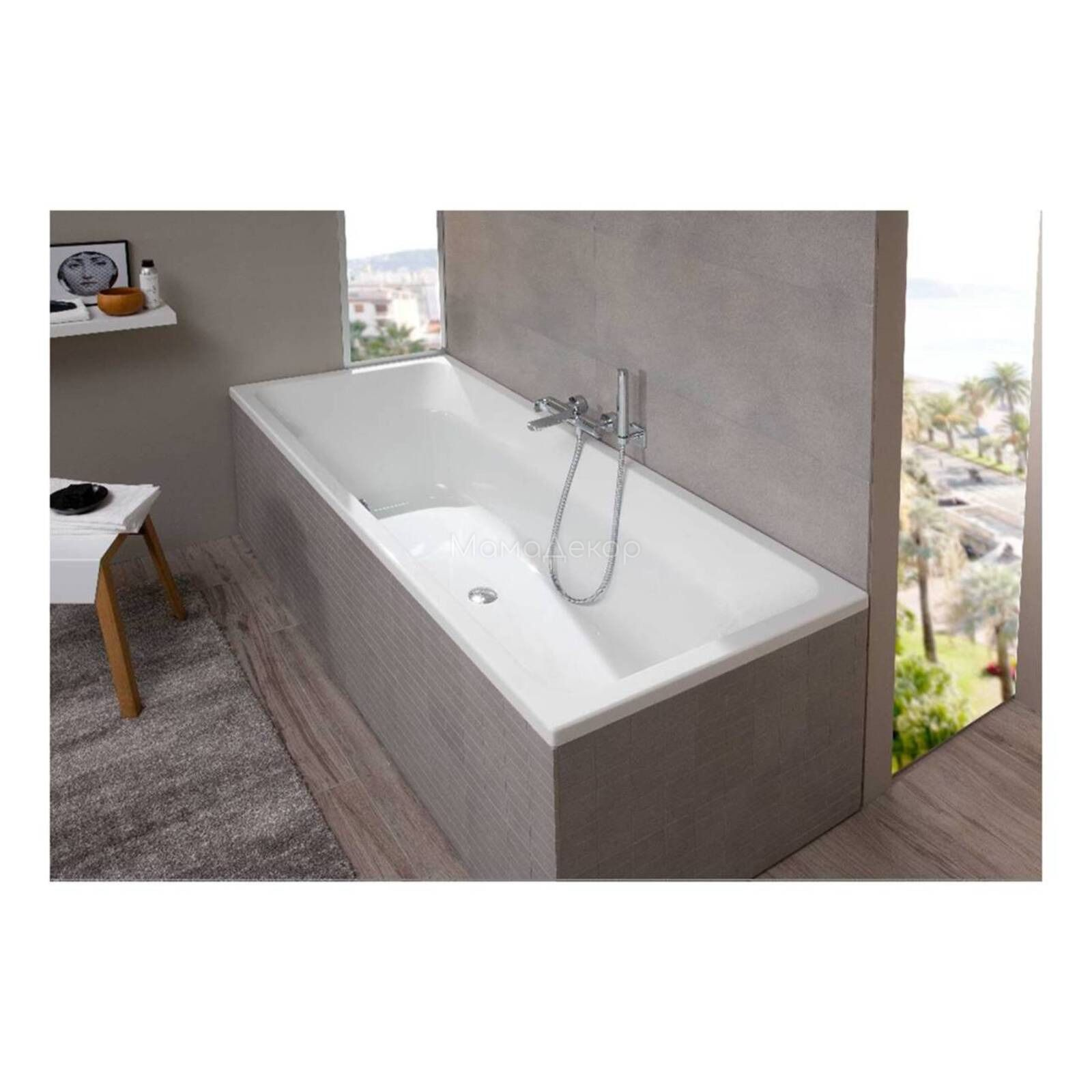Villeroy Boch Uba170fra2v 01 Targa Built In Bath Bathroom Bathroom Tub