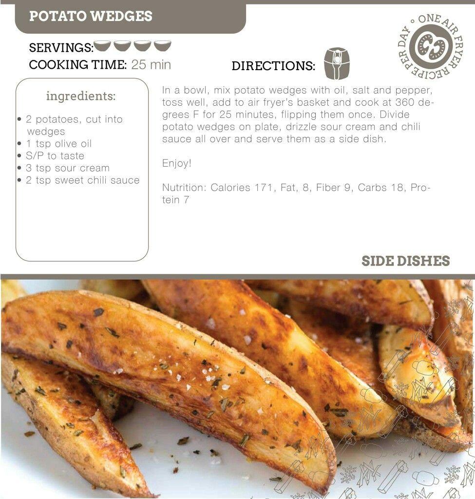 Potato WedgesAir Fryer Recipe. Air fryer recipes
