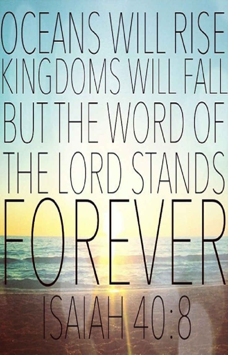 The word of the Lord stands forever I Love Jesus Christ