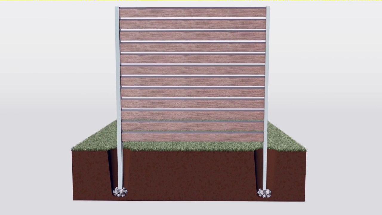 Verschiedene Unterböden sind für unsere WPC Sichtschutzsysteme