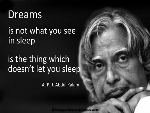 42 Inspiring Quotes from A P J Abdul Kalam is part of Kalam quotes -