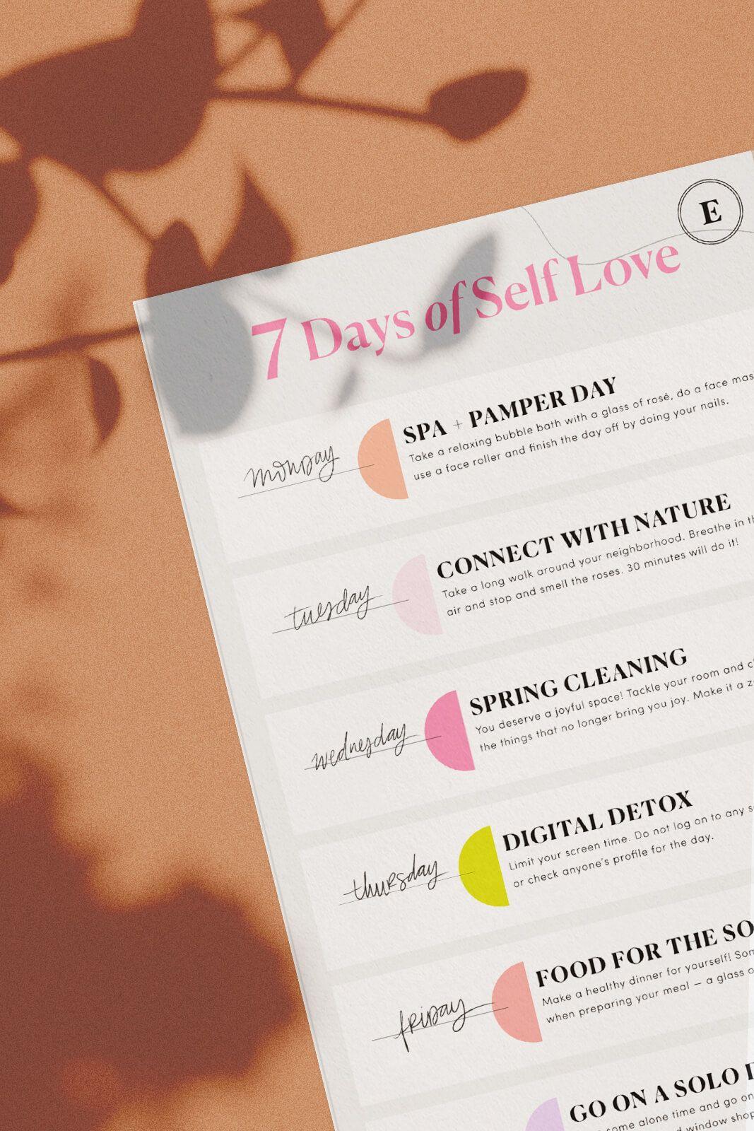 7 Days Of Self Love Challenge