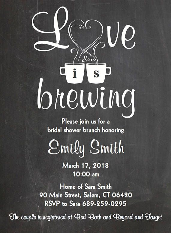 f420e7bbad36 Love is Brewing • Bridal Shower Wedding Engagement Party Invitation •  Coffee Themed Printable Digita