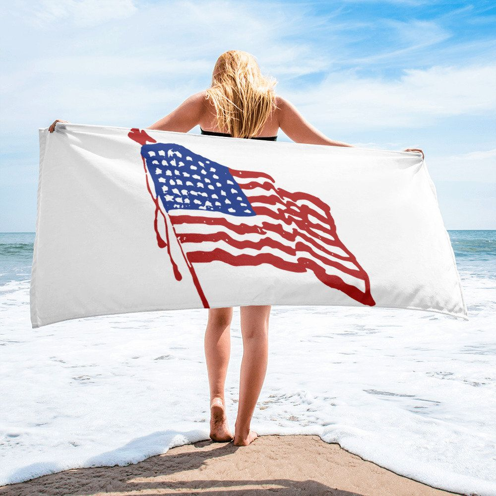 4th Of July Beach Towel Celebrate A Red White And Blue
