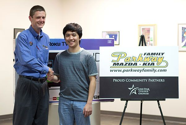 LSC-Kingwood student wins TV from local dealership