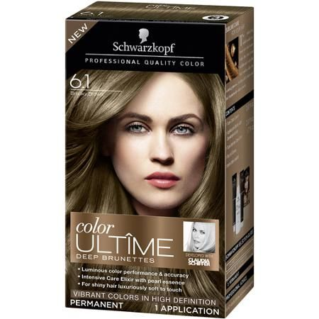 schwarzkopf color ultime deep brunettes hair coloring kit 6 1 smoky brown the least offensive. Black Bedroom Furniture Sets. Home Design Ideas