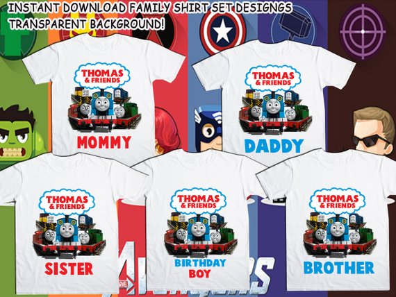 Girls Thomas the Tank Engine Personalised T-shirts Any Name Any Age Boys