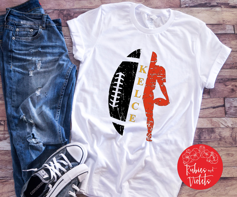 Kansas City Chiefs Shirt/'KELCE' Shirt/Raglan/Kans