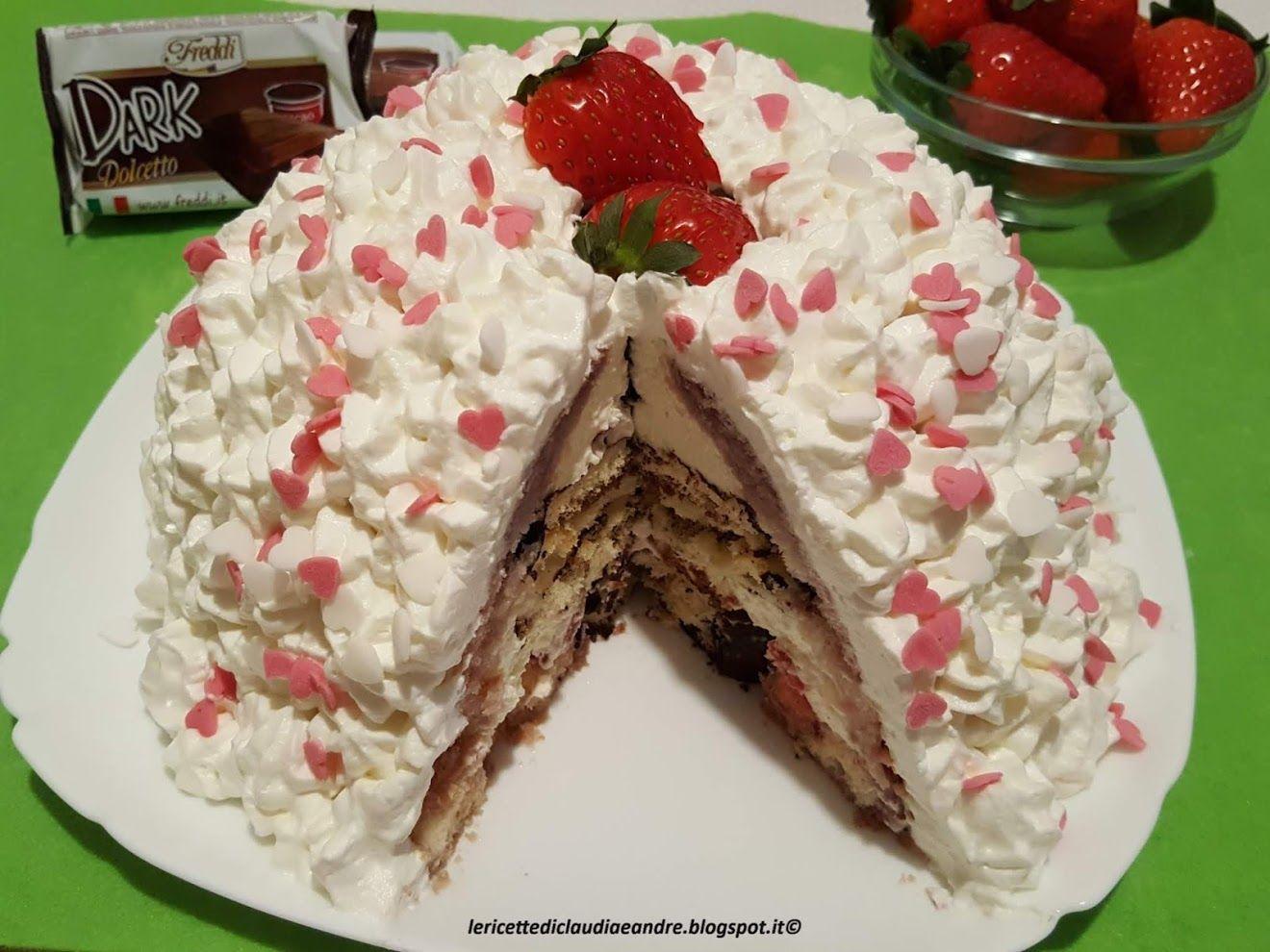 Torta di compleanno al cioccolato con crema al mascarpone
