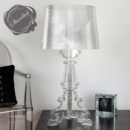 Bedroom Design Idea With Transparent Bourgie Table Lamp And Louis Ghost Chair Cheap Table Lamps Table Lamp Bedside Lamp